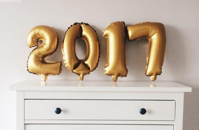 Nieuwjaar 2017 folieballonnen